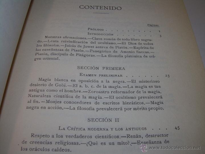 Libros antiguos: LIBRO...DOCTRINA SECRETA..CIENCIA, RELIGION Y FILOSOFIA. - Foto 5 - 49774892