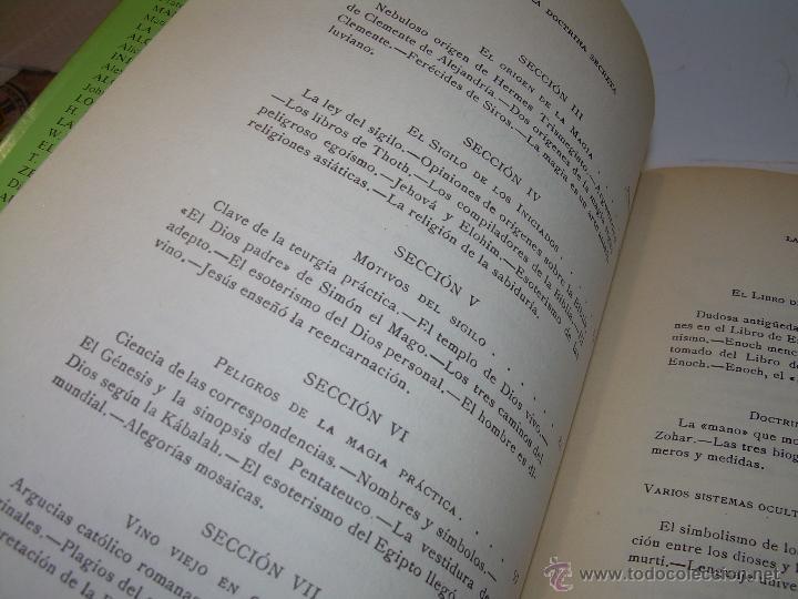 Libros antiguos: LIBRO...DOCTRINA SECRETA..CIENCIA, RELIGION Y FILOSOFIA. - Foto 6 - 49774892