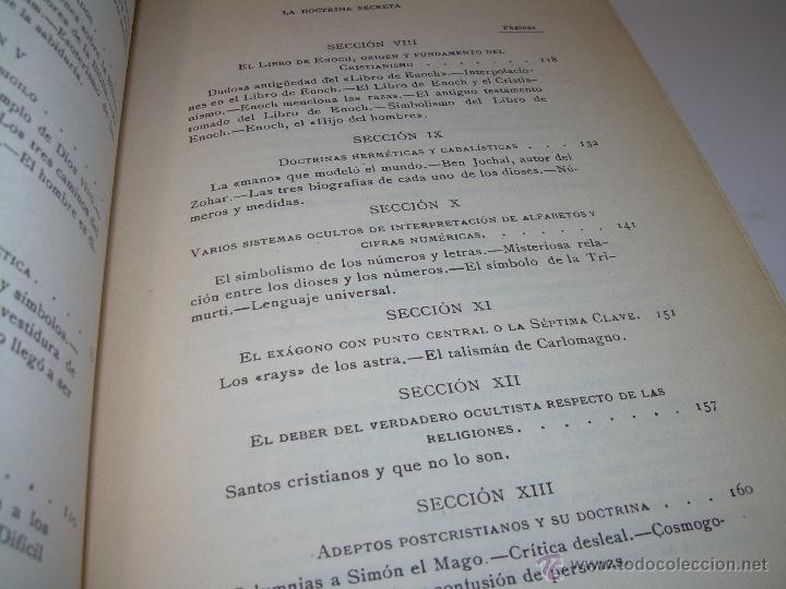 Libros antiguos: LIBRO...DOCTRINA SECRETA..CIENCIA, RELIGION Y FILOSOFIA. - Foto 7 - 49774892