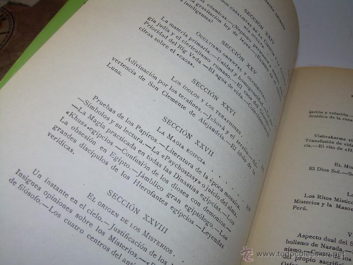Libros antiguos: LIBRO...DOCTRINA SECRETA..CIENCIA, RELIGION Y FILOSOFIA. - Foto 10 - 49774892