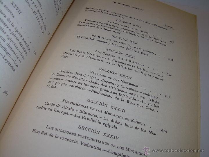 Libros antiguos: LIBRO...DOCTRINA SECRETA..CIENCIA, RELIGION Y FILOSOFIA. - Foto 11 - 49774892