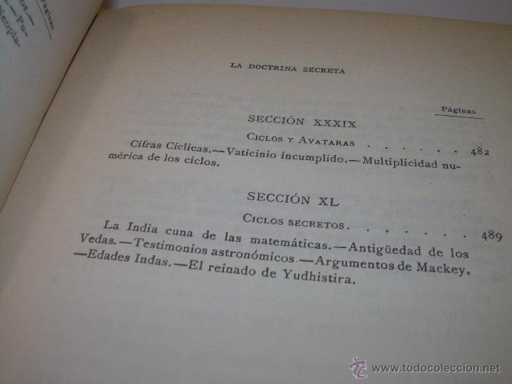 Libros antiguos: LIBRO...DOCTRINA SECRETA..CIENCIA, RELIGION Y FILOSOFIA. - Foto 13 - 49774892