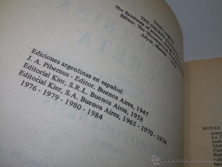 Libros antiguos: LIBRO...DOCTRINA SECRETA....ANTROPOGENESIS. - Foto 5 - 49774997