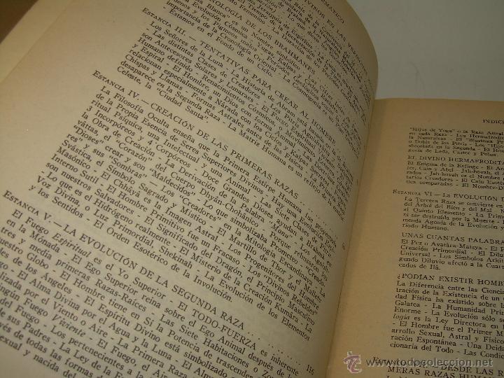 Libros antiguos: LIBRO...DOCTRINA SECRETA....ANTROPOGENESIS. - Foto 7 - 49774997