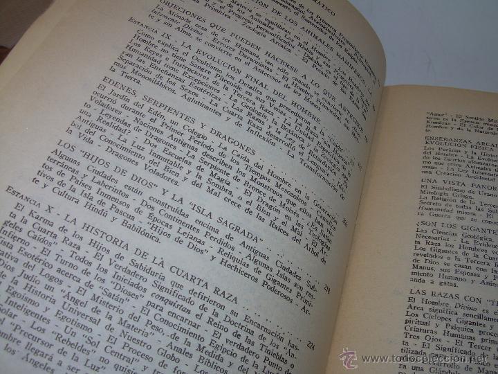 Libros antiguos: LIBRO...DOCTRINA SECRETA....ANTROPOGENESIS. - Foto 9 - 49774997