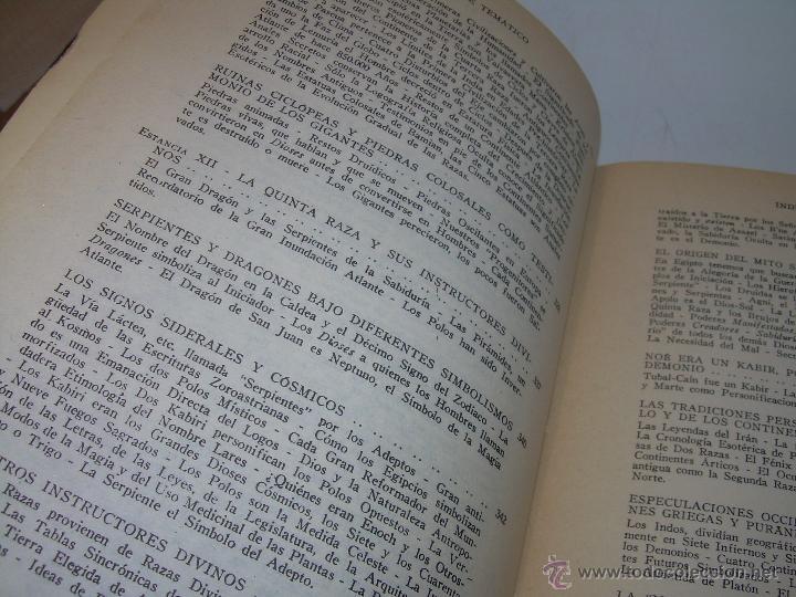 Libros antiguos: LIBRO...DOCTRINA SECRETA....ANTROPOGENESIS. - Foto 11 - 49774997