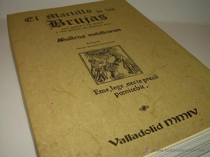 EL MARTILLO DE LAS BRUJAS. (Libros Antiguos, Raros y Curiosos - Parapsicología y Esoterismo)