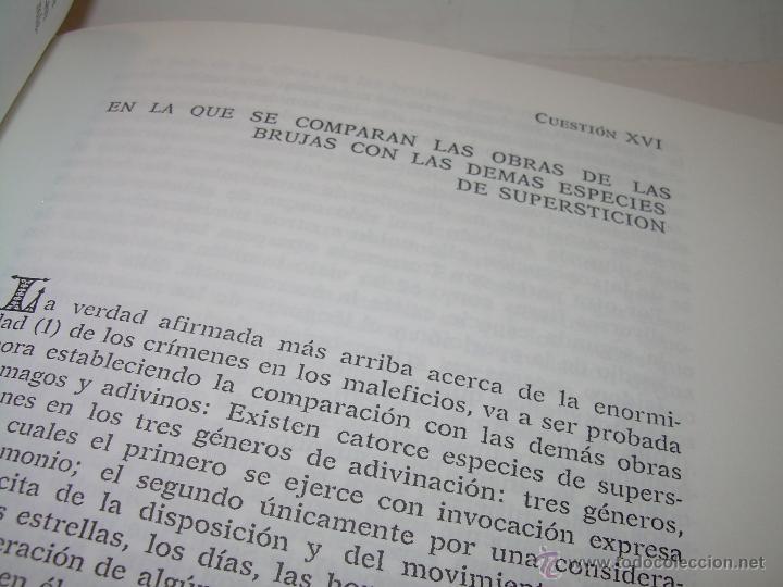 Libros antiguos: EL MARTILLO DE LAS BRUJAS. - Foto 7 - 50725315