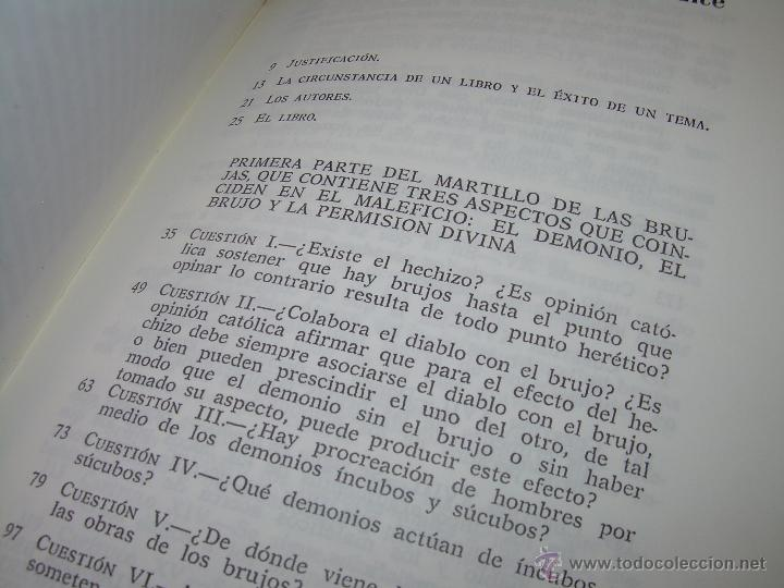 Libros antiguos: EL MARTILLO DE LAS BRUJAS. - Foto 11 - 50725315