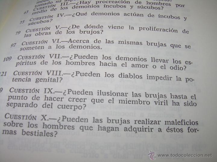 Libros antiguos: EL MARTILLO DE LAS BRUJAS. - Foto 12 - 50725315