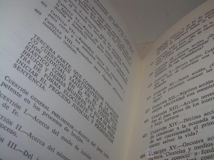 Libros antiguos: EL MARTILLO DE LAS BRUJAS. - Foto 15 - 50725315