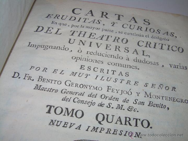 LIBRO TAPAS DE PIEL.....AÑO 1.774...BENITO FEYJOO.....VAMPIRISMO, MASONERIA, EXCORCISMOS. ETC. (Libros Antiguos, Raros y Curiosos - Parapsicología y Esoterismo)