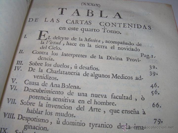 Libros antiguos: LIBRO TAPAS DE PIEL.....AÑO 1.774...BENITO FEYJOO.....VAMPIRISMO, MASONERIA,. ETC. - Foto 5 - 50944368