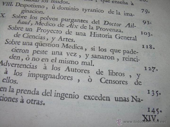 Libros antiguos: LIBRO TAPAS DE PIEL.....AÑO 1.774...BENITO FEYJOO.....VAMPIRISMO, MASONERIA,. ETC. - Foto 6 - 50944368