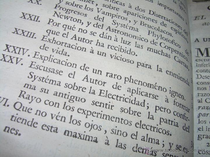 Libros antiguos: LIBRO TAPAS DE PIEL.....AÑO 1.774...BENITO FEYJOO.....VAMPIRISMO, MASONERIA,. ETC. - Foto 8 - 50944368