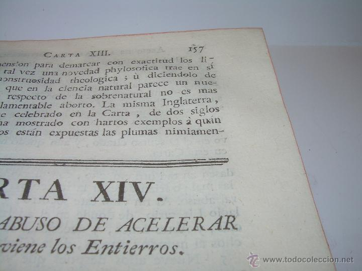 Libros antiguos: LIBRO TAPAS DE PIEL.....AÑO 1.774...BENITO FEYJOO.....VAMPIRISMO, MASONERIA,. ETC. - Foto 15 - 50944368