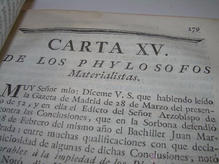 Libros antiguos: LIBRO TAPAS DE PIEL.....AÑO 1.774...BENITO FEYJOO.....VAMPIRISMO, MASONERIA,. ETC. - Foto 16 - 50944368