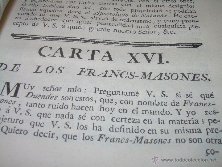 Libros antiguos: LIBRO TAPAS DE PIEL.....AÑO 1.774...BENITO FEYJOO.....VAMPIRISMO, MASONERIA,. ETC. - Foto 17 - 50944368