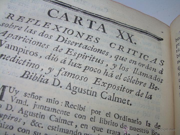 Libros antiguos: LIBRO TAPAS DE PIEL.....AÑO 1.774...BENITO FEYJOO.....VAMPIRISMO, MASONERIA,. ETC. - Foto 21 - 50944368