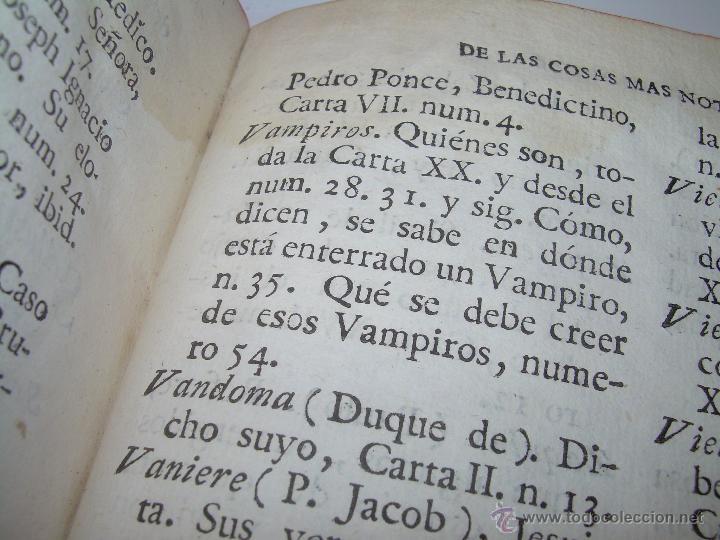 Libros antiguos: LIBRO TAPAS DE PIEL.....AÑO 1.774...BENITO FEYJOO.....VAMPIRISMO, MASONERIA, EXCORCISMOS. ETC. - Foto 22 - 50944368