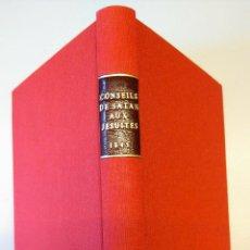 Libros antiguos: LIBRO-CONSEJOS DE SATAN A LOS JESUITAS ACOSADOS-AÑO1845,UNICO EN ESPAÑA.ESOTERISMO,ESPIRITISMO,MAGIA. Lote 49469868