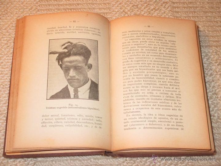 Libros antiguos: Como se hipnotiza. Manual práctico de psicoterapia hipnoticosugestiva, Julio Camino 1928 dedicatoria - Foto 6 - 53287577