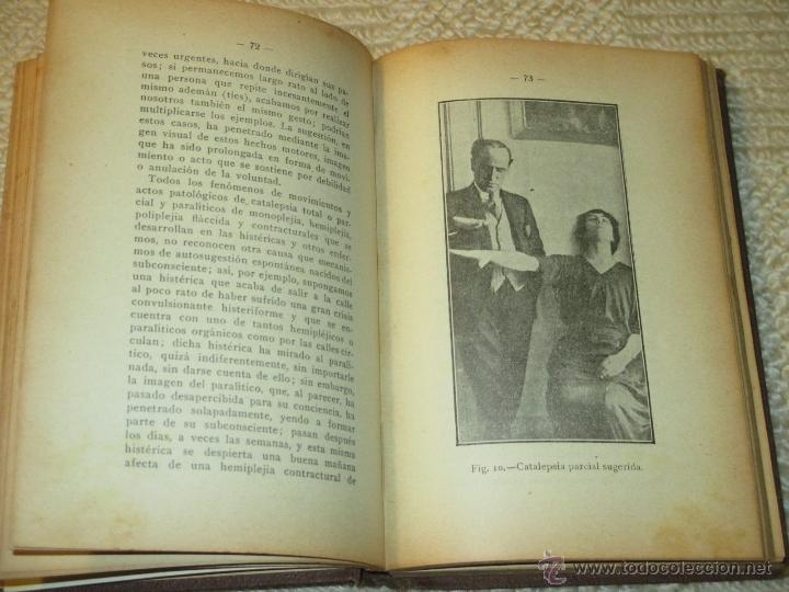 Libros antiguos: Como se hipnotiza. Manual práctico de psicoterapia hipnoticosugestiva, Julio Camino 1928 dedicatoria - Foto 7 - 53287577
