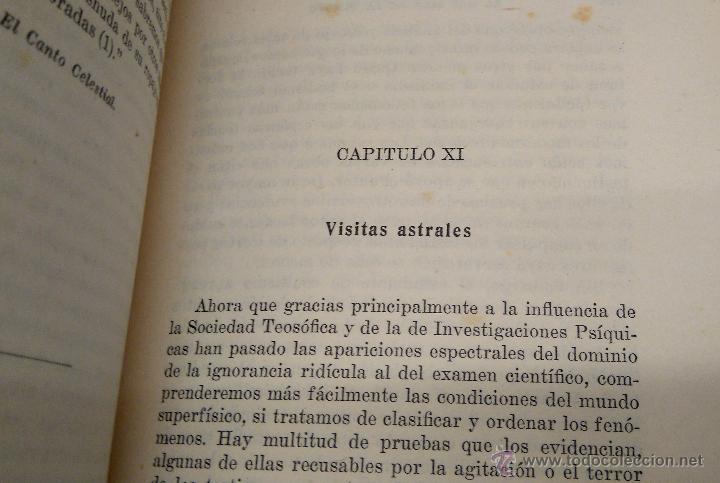 Libros antiguos: LIBRO- EL MAS ALLA DE LA MUERTE - AÑO 1921,TEMATICA ESPIRITISMO,ESOTERISMO,CIENCIAS OCULTAS,RARO - Foto 5 - 54031622
