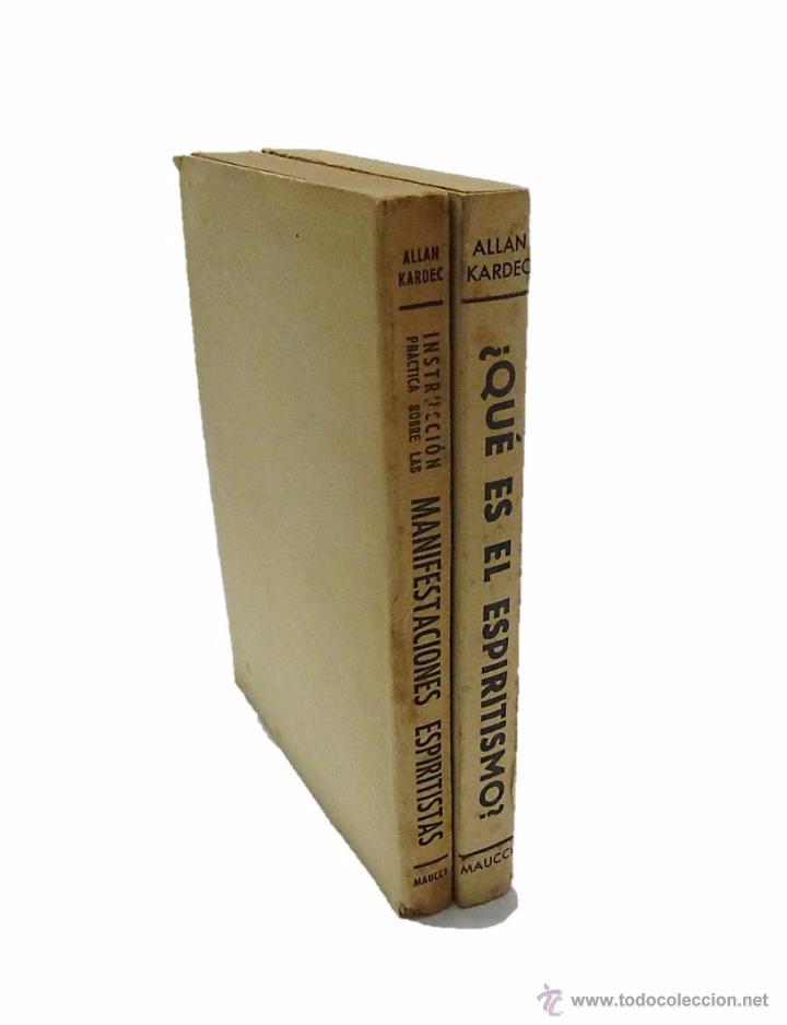 Libros antiguos: ALLAN KARDEC- DOS LIBROS - MANIFESTACIONES ESPIRITISTAS Y ¿ QUE ES EL ESPIRITISMO? - Foto 2 - 54305525
