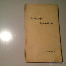 Libros antiguos: C. W. LEADBEATER.BOSQUEJO TEOSÓFICO. 2ª EDICIÓN 1910. B. ORIENTALISTA R. MAYNADÉ. OCULTISMO.RARO. Lote 54379763