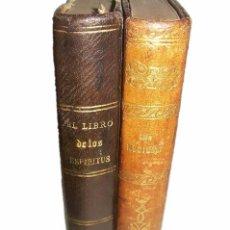 Libros antiguos: DOS LIBROS...EL LIBRO DE LOS ESPIRITUS Y EL LIBRO DE LOS MEDIUMS....ALLAN KARDEC.. Lote 41967940