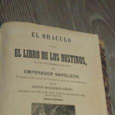 Libros antiguos: ORACULO O LIBRO DE LOS DESTINOS + DESPLEGABLE. Lote 55999714