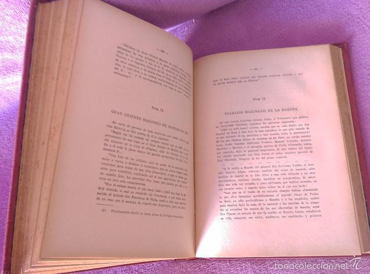 Libros antiguos: HISTORIA DE LAS SOCIEDADES SECRETAS, VICENTE DE LA FUENTE 1933 - Foto 4 - 56005511