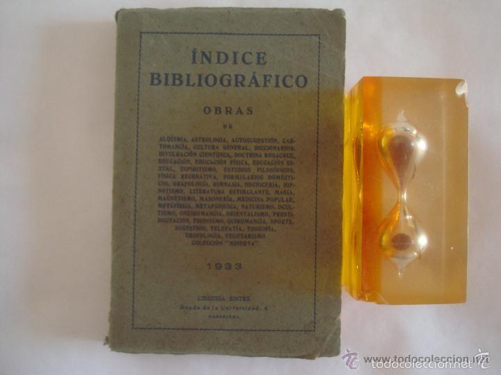 RARO MANUAL BIBLIOGRÁFICO CIENCIAS OCULTAS Y ALQUIMIA.1933.CATÁLOGO DE 1891 LIBROS (Libros Antiguos, Raros y Curiosos - Parapsicología y Esoterismo)