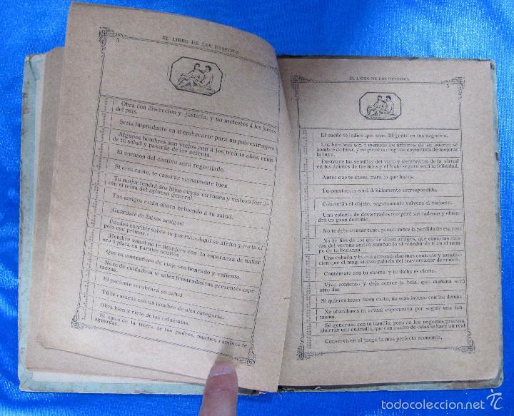 Libros antiguos: ORÁCULO O SEA, EL LIBRO DE LOS DESTINOS CON TABLA DE PREDICCIONES. VENDE BALDOMERO GUAL, 1889. - Foto 5 - 57010238