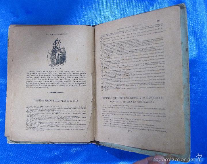 Libros antiguos: ORÁCULO O SEA, EL LIBRO DE LOS DESTINOS CON TABLA DE PREDICCIONES. VENDE BALDOMERO GUAL, 1889. - Foto 6 - 57010238