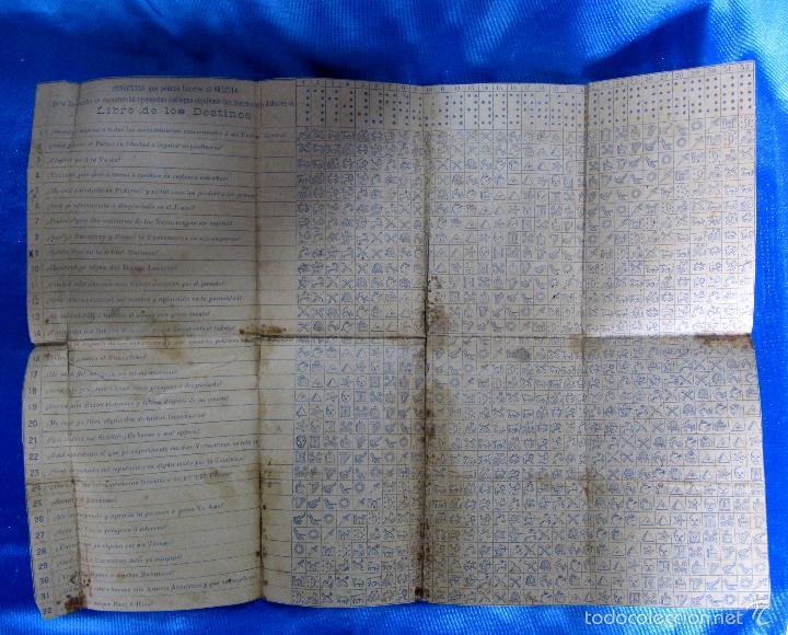 Libros antiguos: ORÁCULO O SEA, EL LIBRO DE LOS DESTINOS CON TABLA DE PREDICCIONES. VENDE BALDOMERO GUAL, 1889. - Foto 7 - 57010238