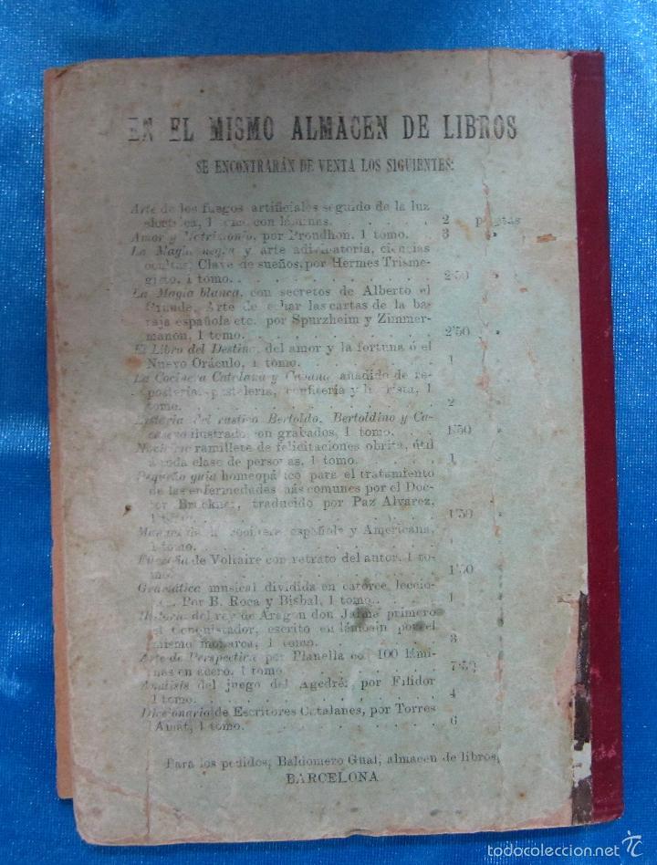 Libros antiguos: ORÁCULO O SEA, EL LIBRO DE LOS DESTINOS CON TABLA DE PREDICCIONES. VENDE BALDOMERO GUAL, 1889. - Foto 10 - 57010238