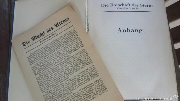 Libros antiguos: DIE BOTSCHAFT DER STERNE- VON MAX HEINDEL 1921. - Foto 3 - 57470404