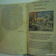 Libros antiguos: MAGNÍFICA EDICIÓN RENACENTISTA EMBLEMATA ANDREAE ALCIATI.1567. 195 GRABADOS. Lote 57989939