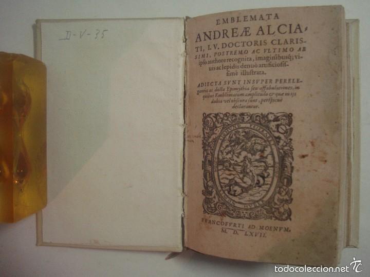 Libros antiguos: MAGNÍFICA EDICIÓN RENACENTISTA EMBLEMATA ANDREAE ALCIATI.1567. 195 GRABADOS - Foto 4 - 57989939