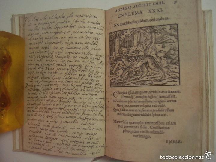 Libros antiguos: MAGNÍFICA EDICIÓN RENACENTISTA EMBLEMATA ANDREAE ALCIATI.1567. 195 GRABADOS - Foto 5 - 57989939