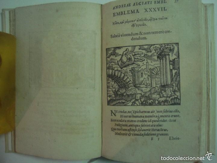 Libros antiguos: MAGNÍFICA EDICIÓN RENACENTISTA EMBLEMATA ANDREAE ALCIATI.1567. 195 GRABADOS - Foto 6 - 57989939