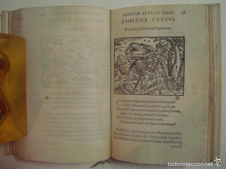 Libros antiguos: MAGNÍFICA EDICIÓN RENACENTISTA EMBLEMATA ANDREAE ALCIATI.1567. 195 GRABADOS - Foto 8 - 57989939