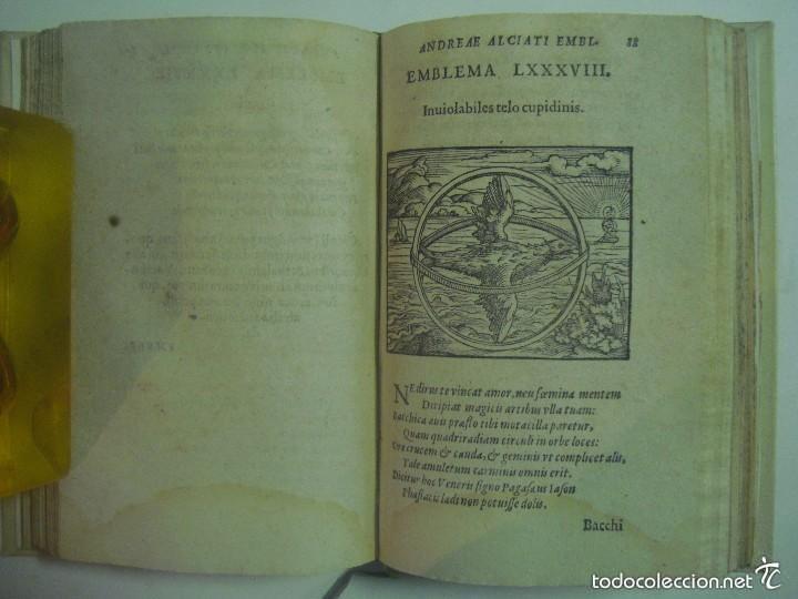 Libros antiguos: MAGNÍFICA EDICIÓN RENACENTISTA EMBLEMATA ANDREAE ALCIATI.1567. 195 GRABADOS - Foto 10 - 57989939