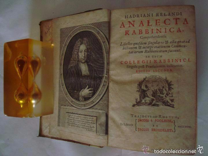 HADRIANI RELANDI. ANALECTA RABBINICA. 1723. CÁBALA. KÁBALAH (Libros Antiguos, Raros y Curiosos - Parapsicología y Esoterismo)