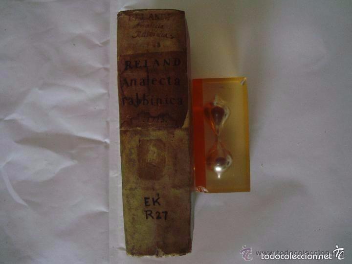 Libros antiguos: HADRIANI RELANDI. ANALECTA RABBINICA. 1723. CÁBALA. KÁBALAH - Foto 2 - 57991959