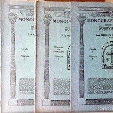 Libros antiguos: LA ORDEN ROSACRUZ. (SECCION TEMPLO). 4 CUADERNOS. (SAN JOSÉ, CALIFORNIA. SANTUARIO SUPREMO. Lote 58475297