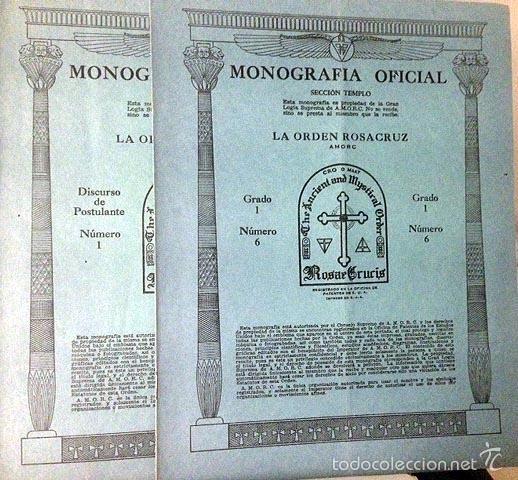 Libros antiguos: La Orden Rosacruz. (Seccion Templo). 4 cuadernos. (San José, California. Santuario Supremo - Foto 2 - 58475297