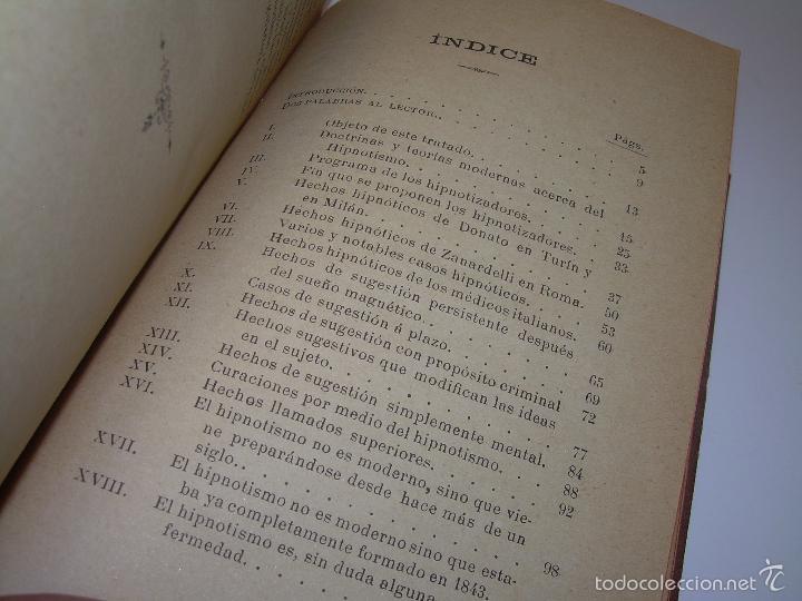 Libros antiguos: EL HIPNOTISMO PUESTO EN MODA.....AÑO..1.891 - Foto 9 - 60180015